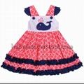 Cute dolphin appliqued dress - BB1021