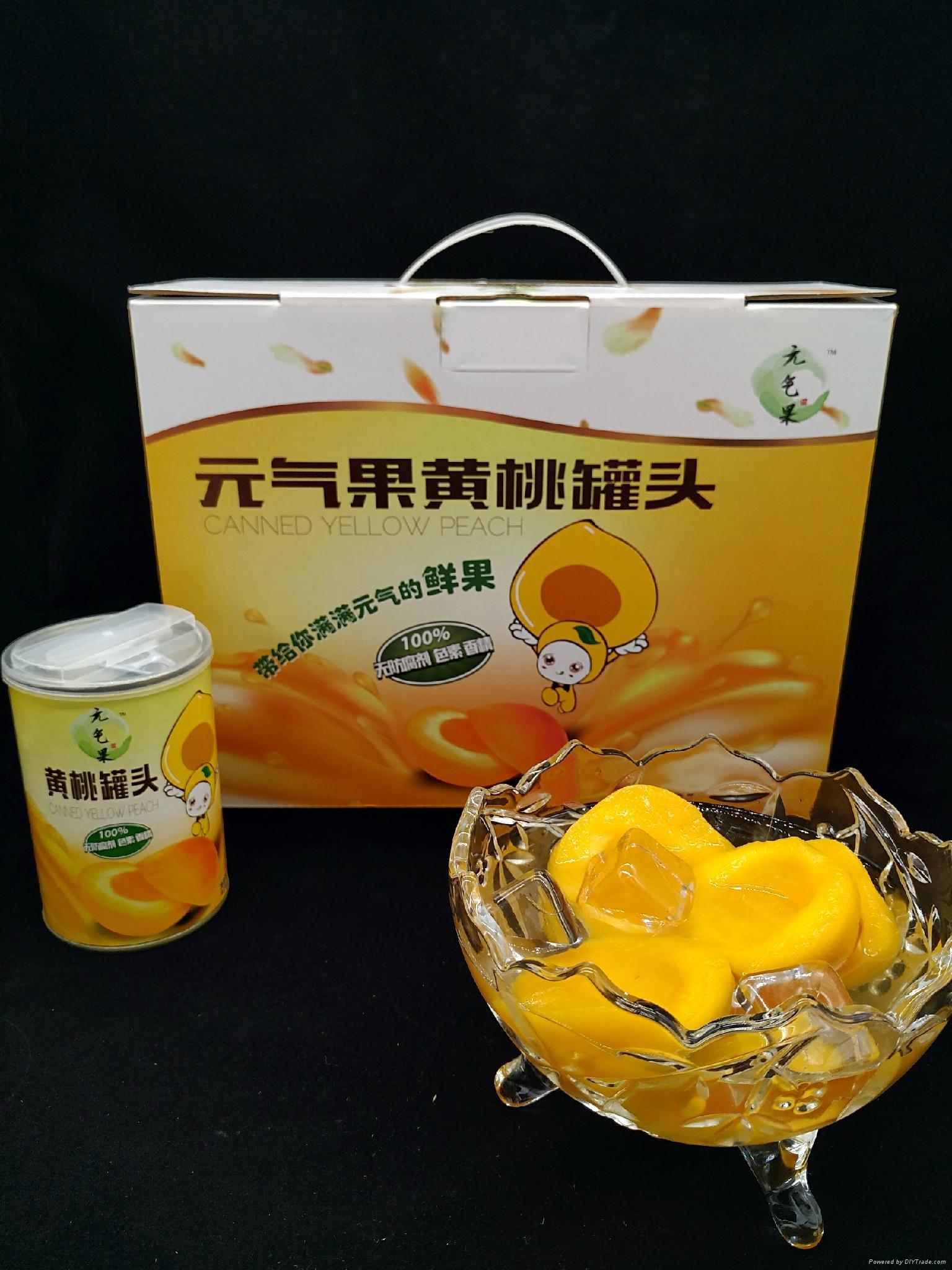 元氣果黃桃罐頭 1