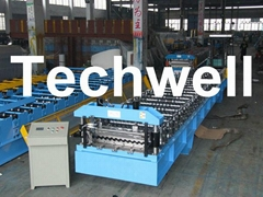 High Speed Steel Metal Roofing Roll Forming Machine with Flying Cutting