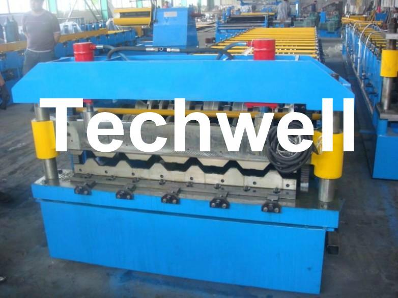 High Speed Steel Metal Roofing Roll Forming Machine with Flying Cutting 2
