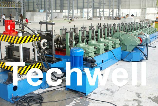 Hot - Dip Ga  anizing Steel Strip Cable Profile, Cable Tray Roll Forming Machine 1