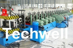 Hot - Dip Ga  anizing Steel Strip Cable Profile, Cable Tray Roll Forming Machine