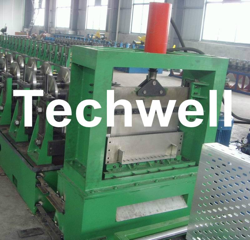 Hot - Dip Ga  anizing Steel Strip Cable Profile, Cable Tray Roll Forming Machine 2