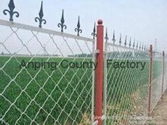 GM high quality powder coated 2016 hot sale zinc steel garden fencing decorative