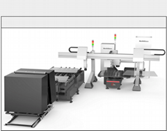 High accuracy auto shaped glass grinding machine (Germany Rexroth sys.)