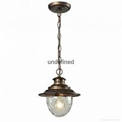 European IP44 unique bronze industrial pendant light