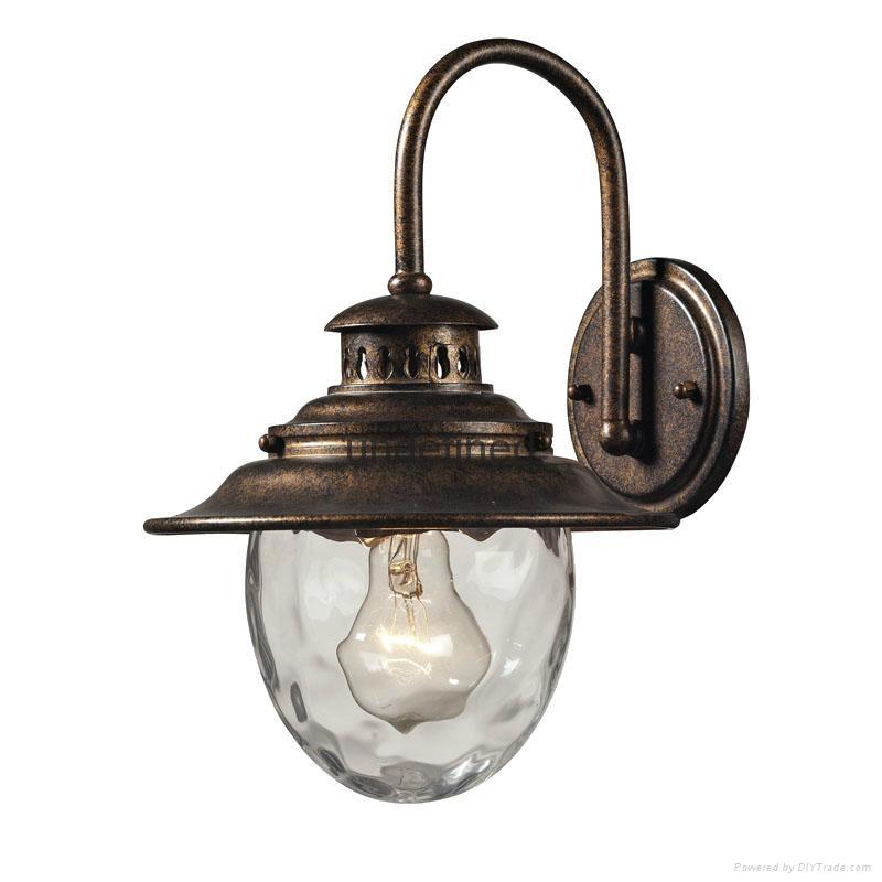Outdoor Industrial Pendant Light: European IP44 Unique Bronze Industrial Pendant Light