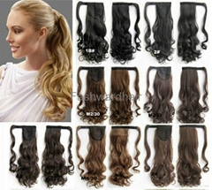 100% human hair pony tail wholesale from factory wholesale