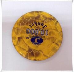 Plastic Round Acrylic Custom Poker Chip