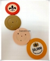 1/Single color ABS Roulette poker chips