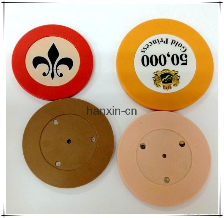 1/Single color ABS Roulette poker chips 2