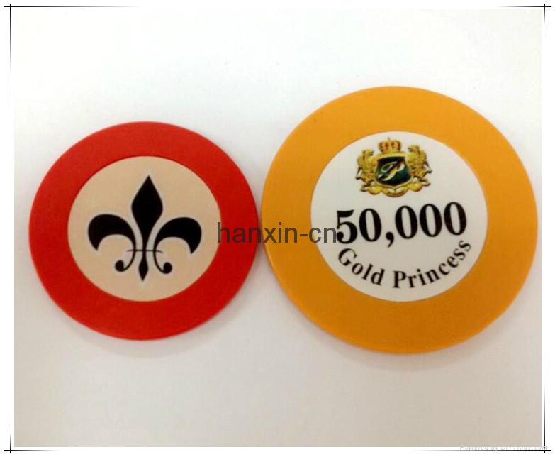 1/Single color ABS Roulette poker chips 4