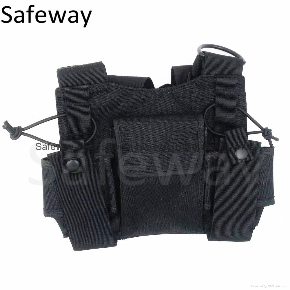 2016 New Nylon Two way radio pouch Chest Pack Pocket walkie talkie carry bag  3