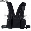 2016 New Nylon Two way radio pouch Chest Pack Pocket walkie talkie carry bag