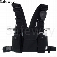 2016 New Nylon Two way radio pouch Chest