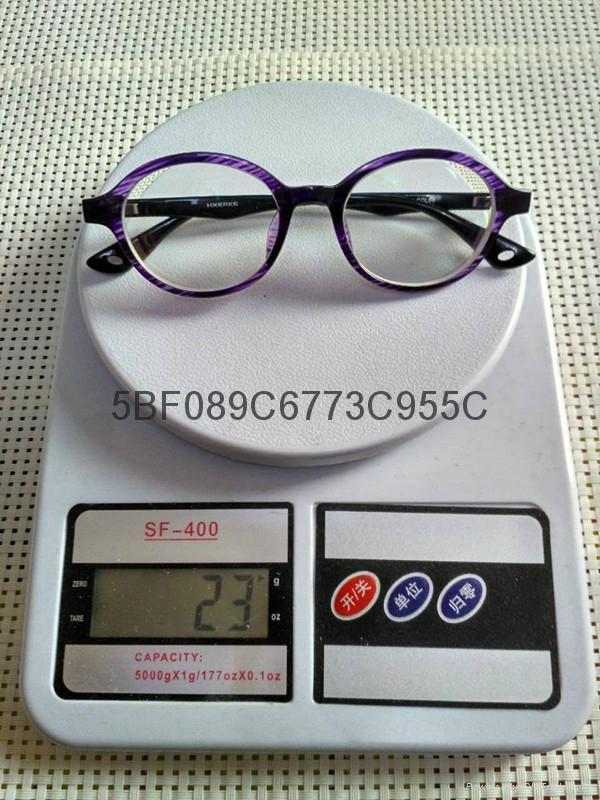 -1200度高度超薄時尚紫色圓框眼鏡 3
