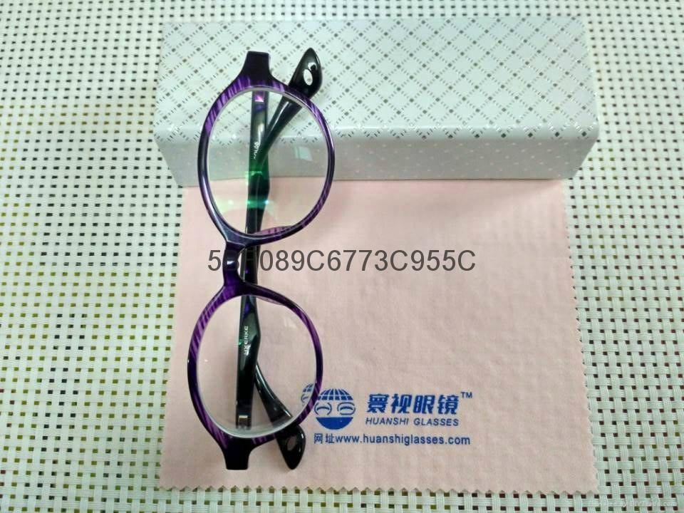 -1200度高度超薄時尚紫色圓框眼鏡 5