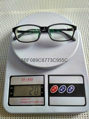 S:-1250度高度超薄時尚運動型黑色框架眼鏡