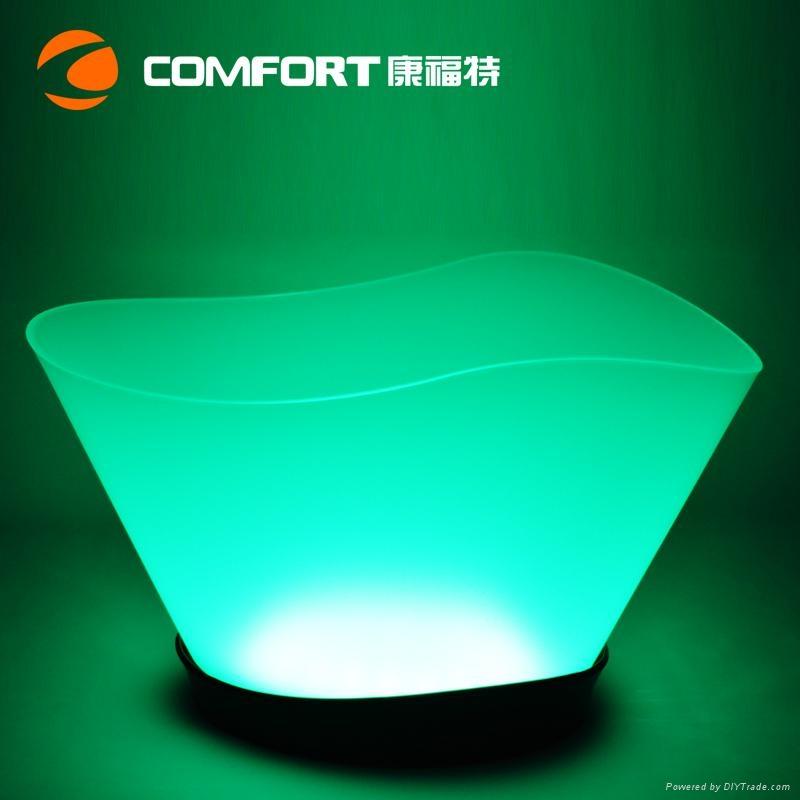 12L Plastic led illuminated wine ice bucket 1