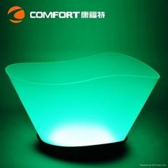 12L Plastic led illuminated wine ice bucket