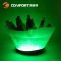 12L Plastic led illuminated wine ice bucket 2