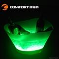 12L Plastic led illuminated wine ice bucket 4