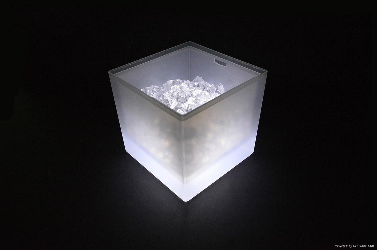 3L Square LED ice bucket 2