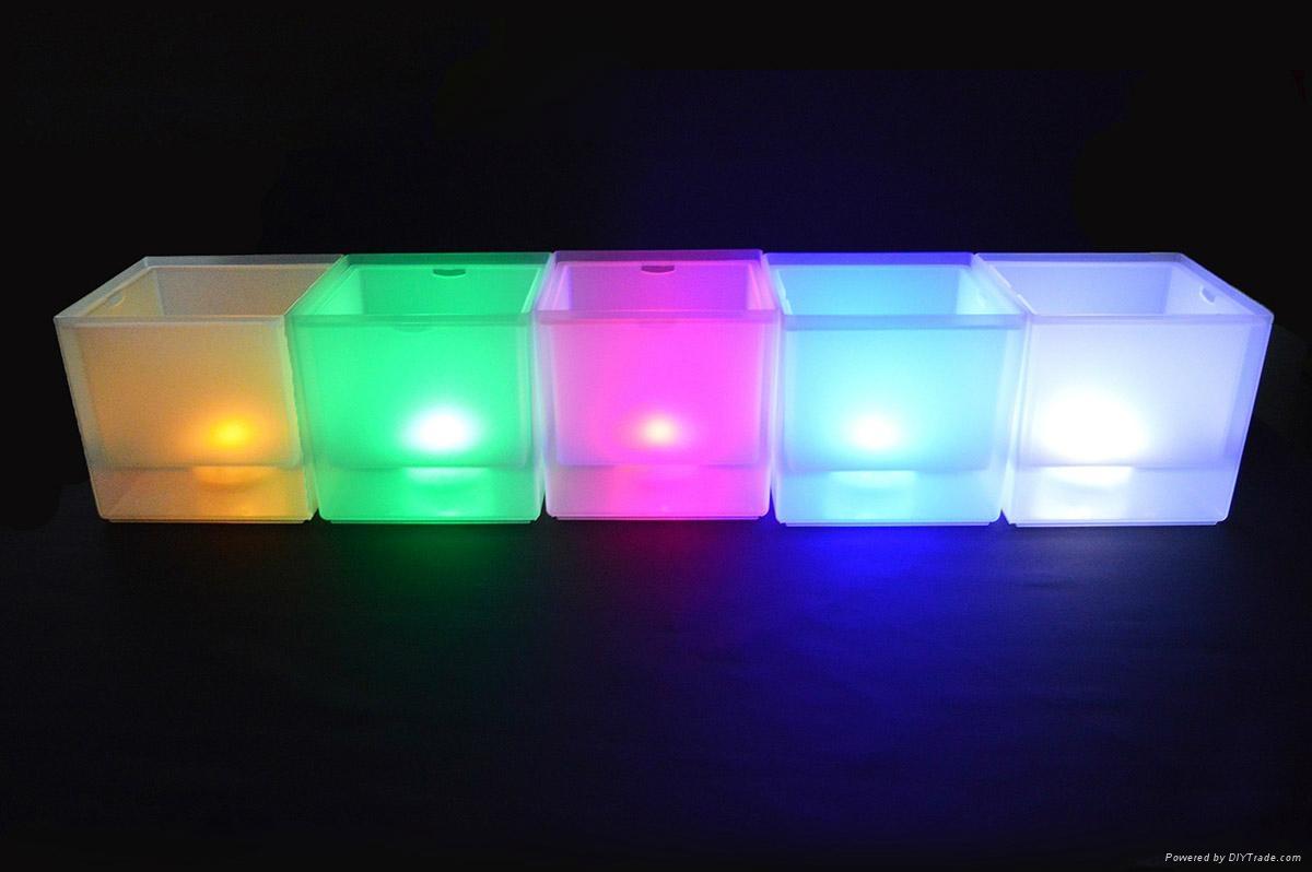 3L Square LED ice bucket 4