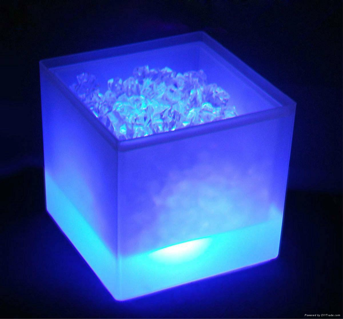 3L Square LED ice bucket 5