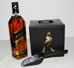 Johnnie Walker plastic double layer ice bucket with lid 3 Liters
