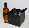 Johnnie Walker plastic double layer ice bucket with lid 3 Liters 4