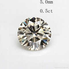 5.0mm 0.5 carat moissanite loose stone