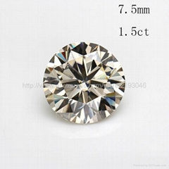 7.5mm 1.5 carat moissanite loose stone