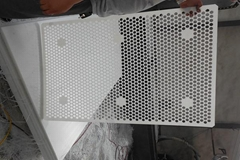 pe plastic mesh sheet/perforated uhmw mesh parts /tank filter