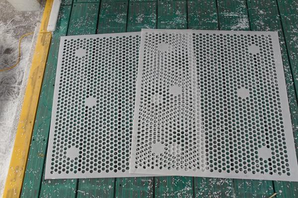pe plastic mesh sheet/perforated uhmw mesh parts /tank filter 3
