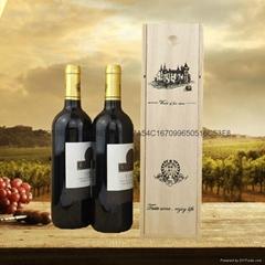 红酒木盒 复古葡萄酒木制包装盒 厂家直销