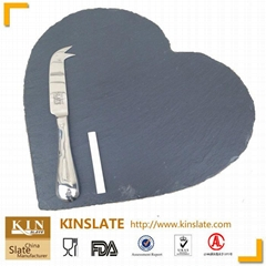 Hot sale House Tableware for Food Natural Edge Hearth Slate Plate