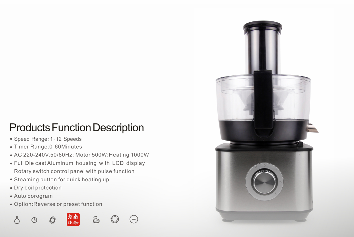 Classic manual speed and new variable speed two kind of speeds high quality food 3
