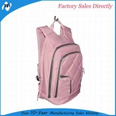 Pink nylon children school backpack for gilrs
