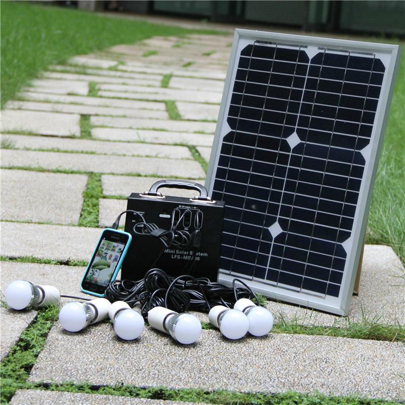 80W mini portable solar lighting system kit energia solar - LFS
