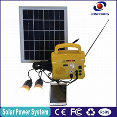 cheap solar with FM radio, mobile charger concentrated mini portable solar power