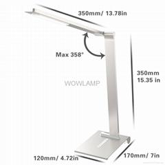 Metal LED desk lamp