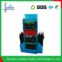 Stable supermarket umbrella floor display rack stand price