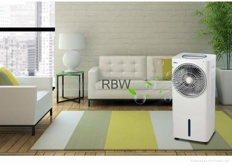 Power saving water based tower fan with desert air cooler 1