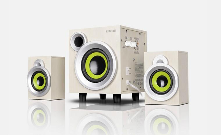 2.1 subwoofer E300PLUS multimedia computer speakers wood