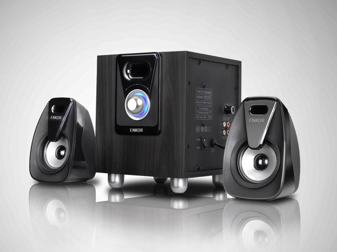 E800 multimedia laptop desktop computer sound wood 2.1 speakers subwoofer
