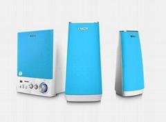 E900B支持藍牙、U盤和SD卡,2.1音響