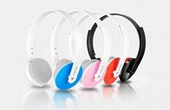 頭戴式線控可伸縮電腦手機恩科耳機立體聲可通話