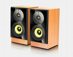 The wooden box, wood grain leather piano lacquer that bake panel 2.0speaker
