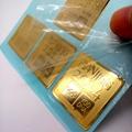 Chinese Professional Factory Customize metal logo sticker gold nickel sticker